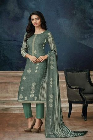 Buy Omtex Celebraze Pashmina Digital Print with work Salwar Suit 366