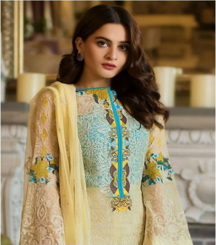 e37d708c7d Deepsy Gulbano 5 Georgette With Heavy Embroidery Suits 300-1014