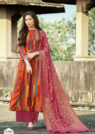 Jayvijay Lavanya Pashmina Digital Print With Embroidery Work Suit 4371