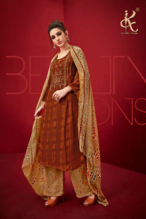 Kapil Fab Ibaadat Pure Pashmina Print With Self Embrodery Work Suit 51006