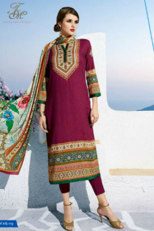 T & M Marium Pashmina Unstitched kurti with Dupatta Mar 09