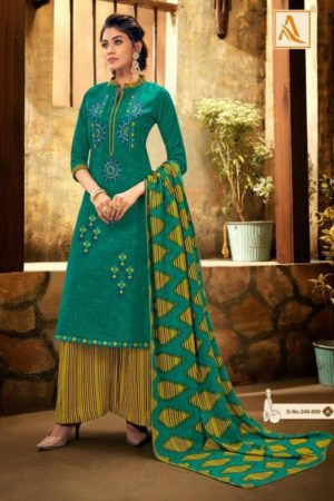 Alok Suit Presents Shan-e-punjab Pashmina Patiyala Suit Collection 240-008