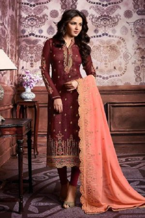 Amirah Vol 16 Geargette Heavy Embroidery with daimond hand work suits 11002