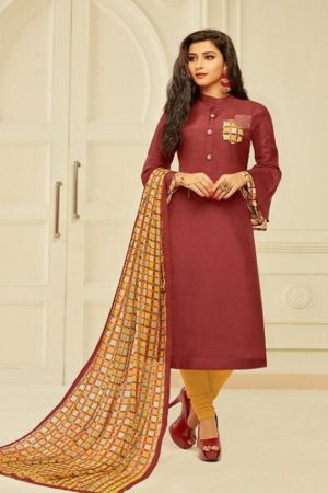 Angroop Plus Presents Dairy Milk Vol 24 Chanderi Cotton Suit 902