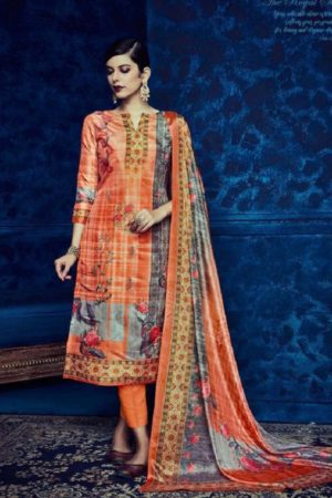 Belliza Designer Studio Presents Pure Upada Silk Collection The Royal Silk Suit 156-010