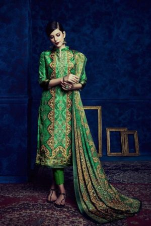 Belliza Designer Studio Presents Pure Upada Silk Collection The Royal Silk Suits 156-002