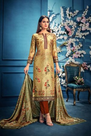 Belliza Designer Studio Presents The Silk 6th Edition Pure Silk Digital Print Suits 183-001