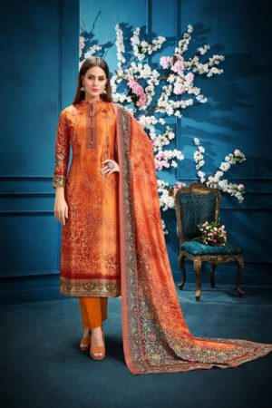 Belliza Designer Studio Presents The Silk 6th Edition Pure Silk Digital Print Suits 183-010