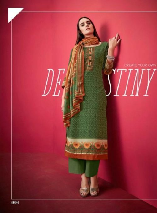 Buy Kesar Karachi Shahin Autumn Winter Collection Suit 4004