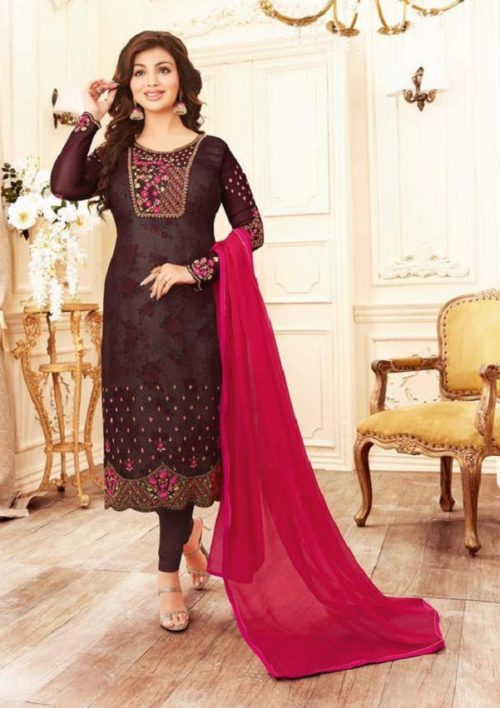 Buy lavina Nx3 Georgette Embroidery Salwar Suits 3003