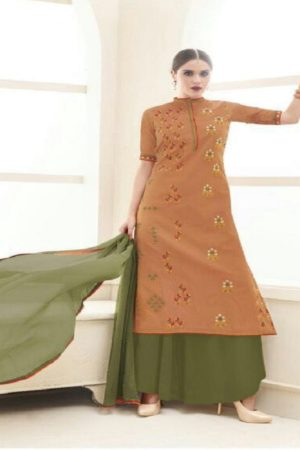 Haya Presents The Classic Rebel Silk Cotton With Embroidery Suits 5979
