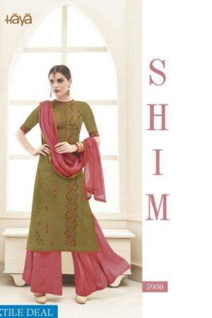 Haya Presents The Classic Rebel Silk Cotton With Embroidery Suits 5980