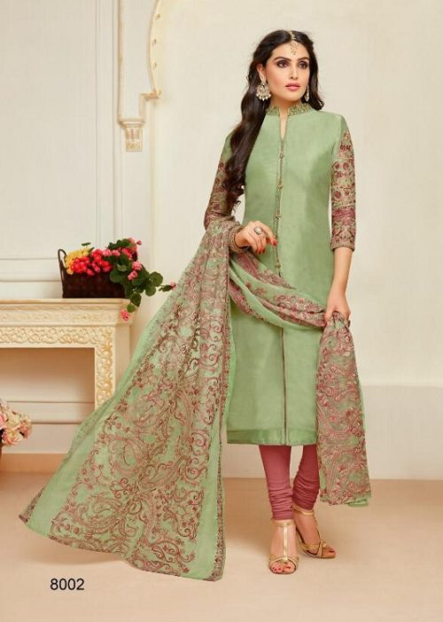 Moof Presents Princess Vol 3 Fancy Upada silk Suits 8002