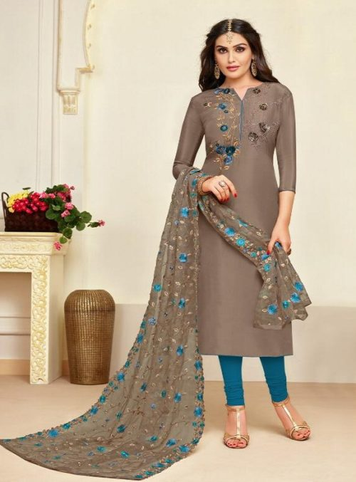 Moof Presents Princess Vol 3 Fancy Upada silk Suits 8006