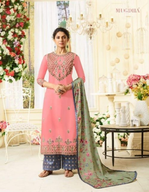 Mugdha Presents Afreen Pure Maslin Silk Designer Suits 114