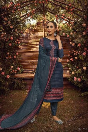 Varsha Fashion Posh Pashmina Printed and Embroidery Suit 005