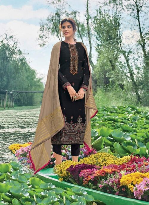 Varsha Fashion Presents Mrinalini Chanderi Minakari Salwar Suit 114