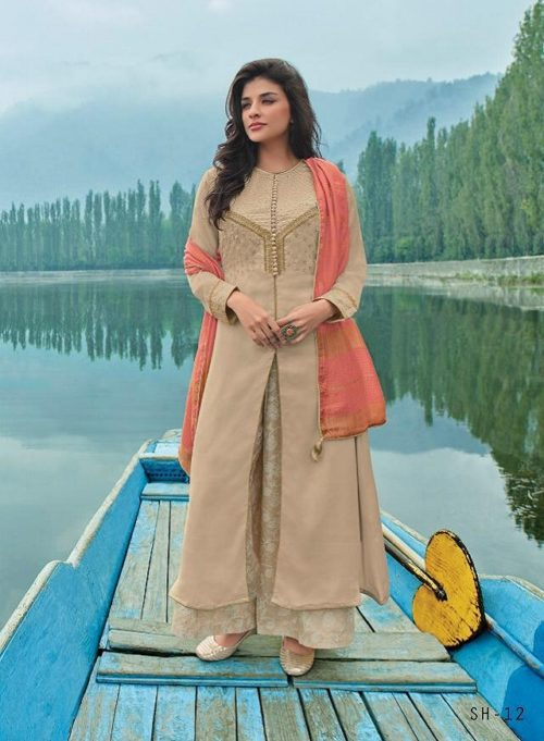 Varsha Fashion Shades vol 2 Muslin cotton with embroidery Suit SH-12