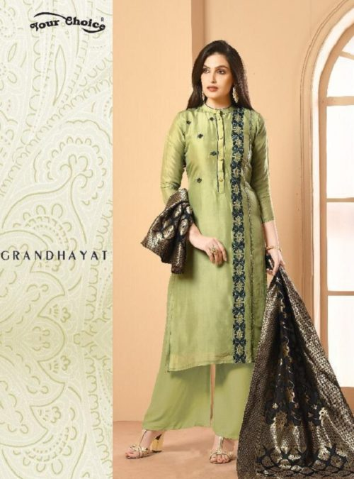 Your Choice Banarsi 1 Satin Georgette with Banarsi Dupatta Salwar Suit 3062