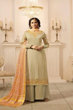 Zubeda Presents Zarna Satin Georgette with Embroidery Suits 15306