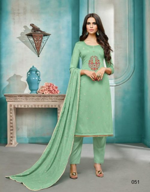 Angroop Plus Daina Vol 3 Masline Silk With Embroidery Suits 051
