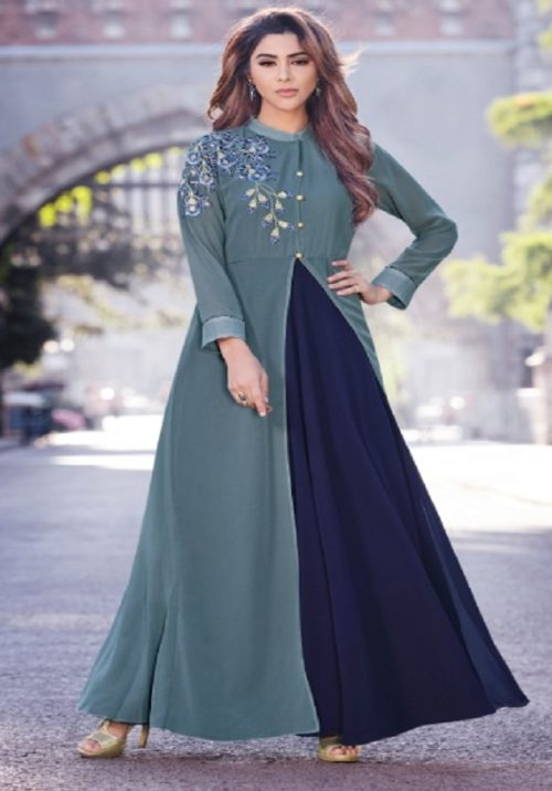 Arihant Nx Sasya vol 16 Semi Jorjet With Embroidery Gowns 8133