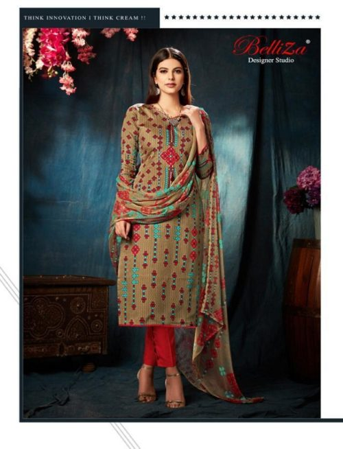 Belliza Designer Studio Amora Pure Original Jam Silk Digital Style Suit 193-006