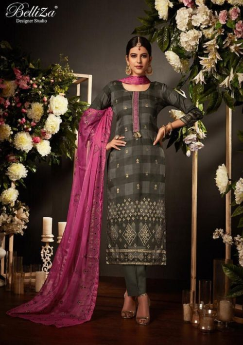 Belliza Designer Studio Kiara Pure Original Jam Silk Suits 192-010