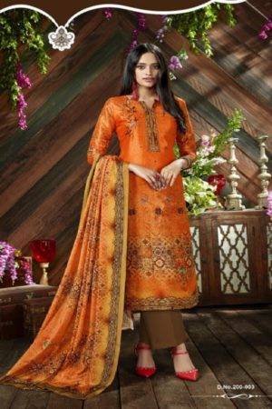 Belliza Designer Studio The Silk 9th Edition Pure Silk Digital Printed Suits 200-003