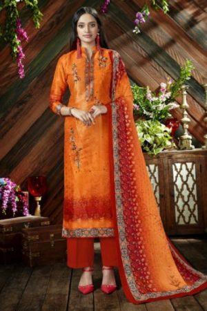 Belliza Designer Studio The Silk 9th Edition Pure Silk Digital Printed Suits 200-007
