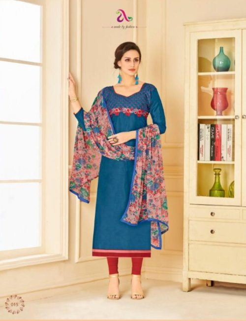 Buy Angroop Plus Munch Chanderi Cotton Salwar Suit 015