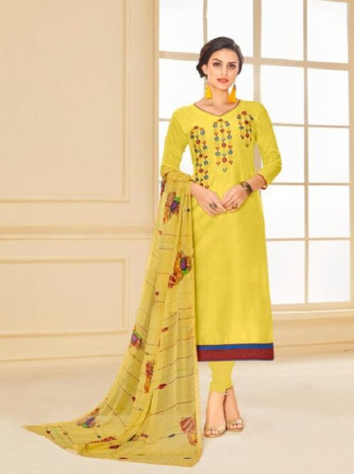 Buy Angroop Plus Munch Chanderi Cotton Salwar Suit 021