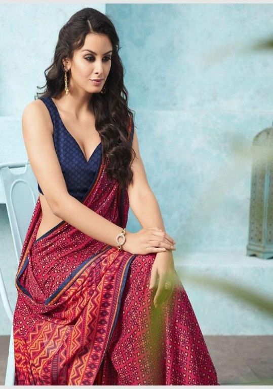 6ce124e3f2 Buy Sahiba Preet Heavy Georgette Printed Saree With Fancy Lace Border 23