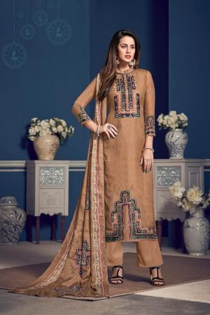 Deepsy Fluence Pure Jam Silk Cotton with Embroidery Suit 29003