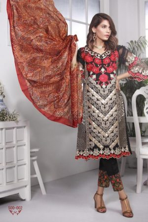 Deepsy Marks 3 Georgette With Heavy Embroidey Suit 500-002