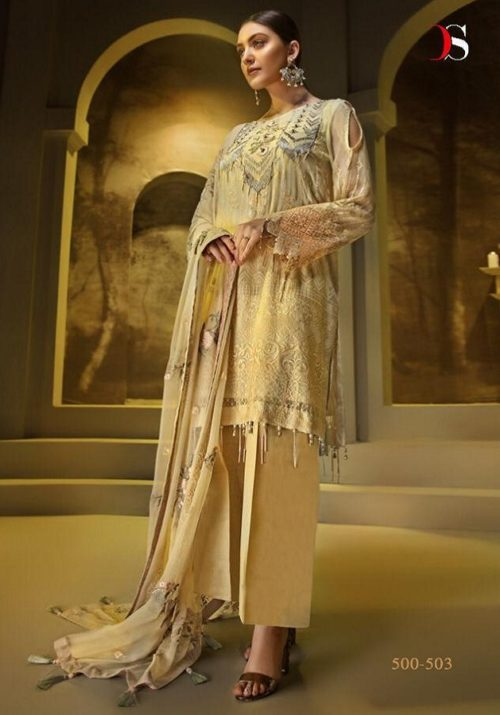 Deepsy Presents Auj Georgette with Heavy Embroidery Suits 500-503