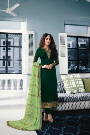 Fiona Kritika Heavy Dupatta Satin Georgette with Embroidery Suit 22386