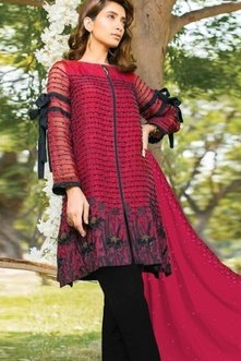 Juvi Fashion Qalamkar Vol 3 Cambric cotton with Embroidery Suit 33001