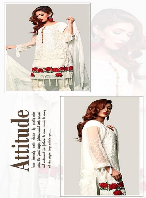 Juvi Fashion Qalamkar Vol 3 Cambric cotton with Embroidery Suit 33005