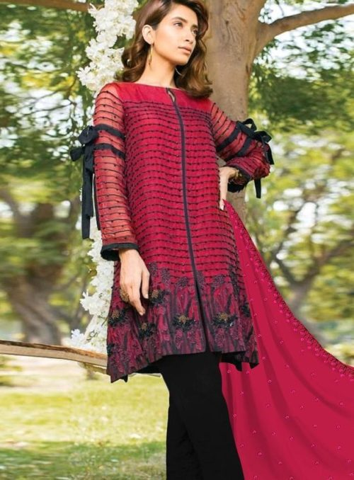 Juvi Fashion Qalamkar Vol 3 Cambric cotton with Embroidery Suits 33001