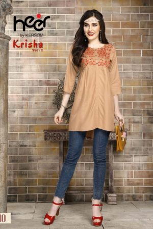 Kersom Heer Krisha Vol 2 Rayon with Work Short Top 1010