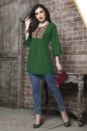 Kersom Heer Krisha Vol 2 Rayon with Work Short Tops 1002