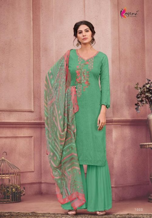 Kesari Trendz Alisa 3 Jam Silk Cotton With Self Embroidery Suits 1020