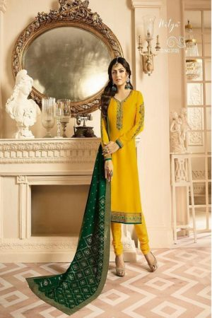 LT Presents Vol 131 Satin Georgette With Embroidery Suit 3105