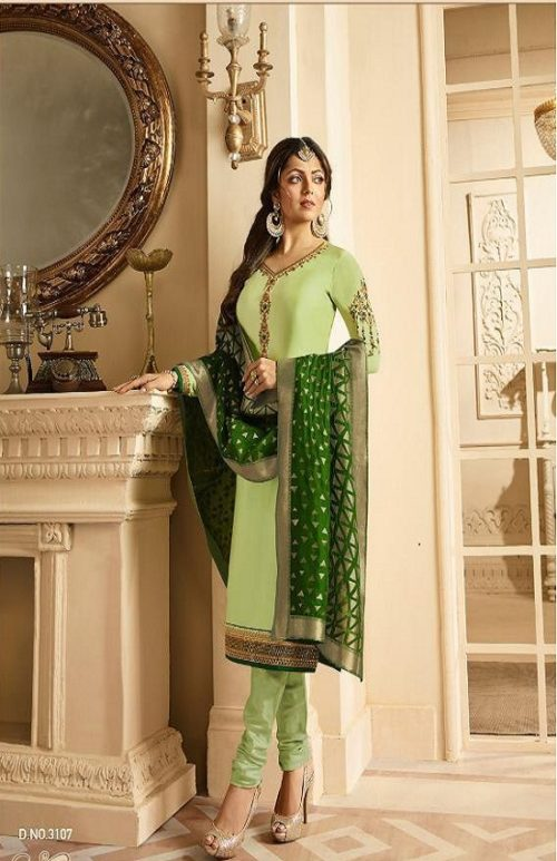 LT Presents Vol 131 Satin Georgette With Embroidery Suit 3107
