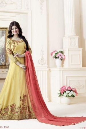 Lavina Rohaani Georgette with Embroidery Semi Stitched Gown 7002