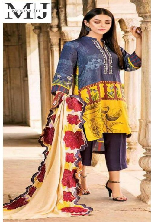 Naranji Vol 3 Printed Shirt Front With Embroidery Printed Suits CN 37