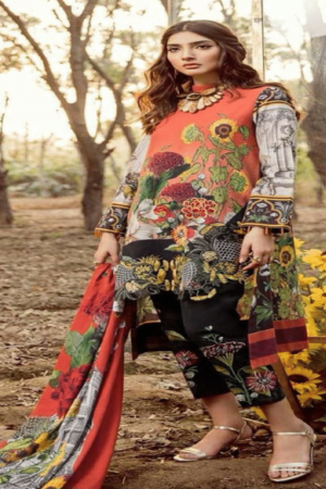 Regalia presents Lawn Summer collectionLawn With Lawan Embroidery Suit Asifa n 89