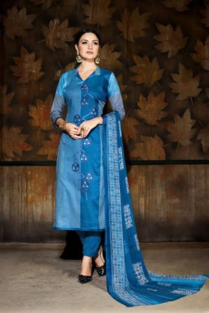 Rupali Fashion Presents Jasmine Jam Satin With Embroidery Suit 101