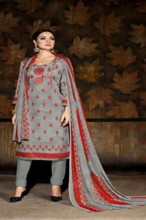 Rupali Fashion Presents Jasmine Jam Satin With Embroidery Suit 105